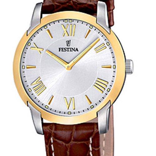 festina f16509 5 montre femme quartz analogique bracelet cuir marron montres. Black Bedroom Furniture Sets. Home Design Ideas