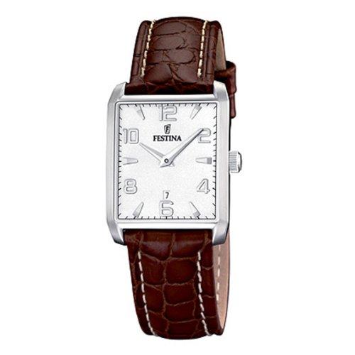 festina f16515 2 montre femme quartz analogique bracelet cuir marron montres. Black Bedroom Furniture Sets. Home Design Ideas