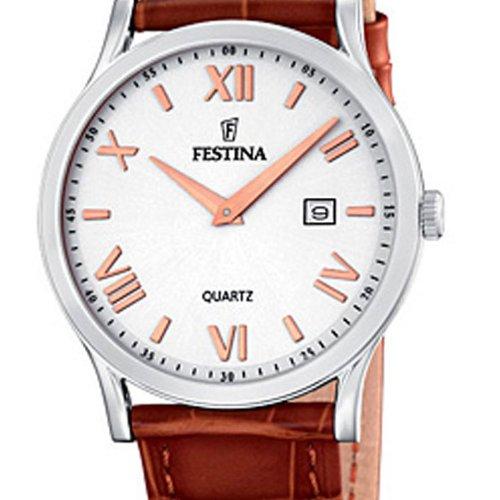 festina f16521 5 montre femme quartz analogique bracelet cuir marron montres. Black Bedroom Furniture Sets. Home Design Ideas