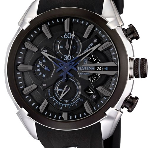 festina f6819 5 montre homme quartz chronographe chronographe bracelet caoutchouc. Black Bedroom Furniture Sets. Home Design Ideas