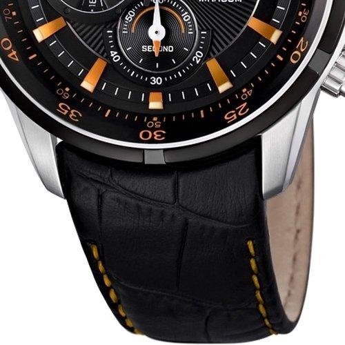 festina f6821 4 montre homme quartz chronographe chronographe bracelet cuir noir. Black Bedroom Furniture Sets. Home Design Ideas