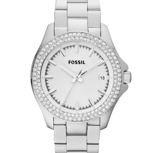 fossil am4452 montre femme quartz analogique aiguilles lumineuses bracelet acier. Black Bedroom Furniture Sets. Home Design Ideas