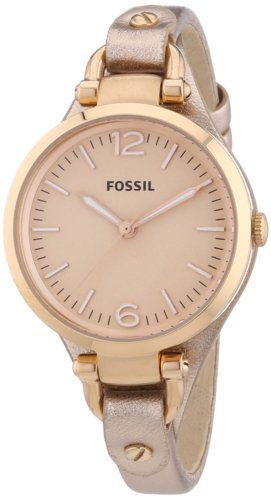 fossil es3413 montre femme quartz analogique bracelet cuir or rose montres. Black Bedroom Furniture Sets. Home Design Ideas
