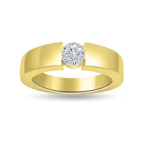 F vs1 bague de fian ailles solitaire en diamant for Diamant coupe miroir
