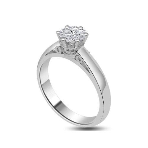 G vs1 bague de fian ailles solitaire en diamant for Diamant coupe miroir
